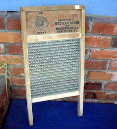 """Measures about 24"""" x 12"""". This washboard is in decent used condition.  The Art of Secondhand 9746 Chemainus Rd. Chemainus, BC.  Located in the blue building next to the Chemainus Theatre"""