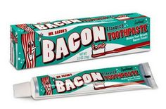 Know any bacon lovers? That's right, we have an entire section for all the bacon lovers out there! From wacky to funny, we have all the bacon products covered. Bacon is a delicious treat and sometimes we just need a reminder of it all day long! Bacon Toothpaste, Flavored Toothpaste, Gag Gifts, Funny Gifts, Silly Gifts, Prank Gifts, Funny Presents, Food Gifts, Lard