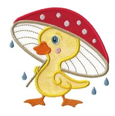 Duck and Mushroom Applique - 3 Sizes! | Spring | Machine Embroidery Designs | SWAKembroidery.com Applique for Kids