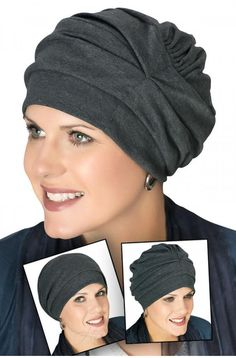 Cotton Trinity Turbans - 3 Way Headcovering - Cancer Hats for Women…A truly unique head covering that can be worn 3 different ways!This fun and flattering design can be worn three different ways. This particular headcovering is made from cotton for ulti Turban Hut, Mode Turban, Slouchy Beanie Hats, Beanie Hats For Women, Beanies, Hats For Cancer Patients, Fleece Hats, Stylish Hats, Cute Hats