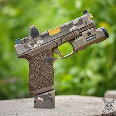 Multicam Glock w/Inforce! Glock Guns, Weapons Guns, Guns And Ammo, Airsoft Gear, Tactical Gear, Indoor Shooting Range, Custom Glock, Cool Guns, Revolver