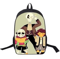Anime Undertale Backpack For Boys Girls School Bags Sans Women Men Travel Bag UT Frisk Papyrus Children Backpacks