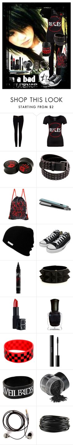 """""""No Rules"""" by im-a-monster ❤ liked on Polyvore featuring Ted Baker, Blend, Remington, Neff, Converse, Smashbox, NARS Cosmetics, Deborah Lippmann, shu uemura and Friis & Company"""