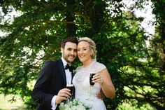 #Gwendolynne patience #Wedding #bellinghamcastle #tuxedo #flowers #bouquet #guinness #flutes #bride #groom #clairebaker #juliecumminsphotography