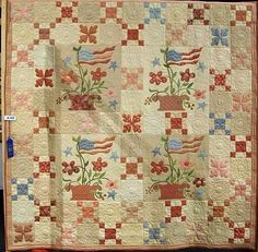 Old Glory Quilt- I believe this is designed by BlackBird Designs.... not sure.