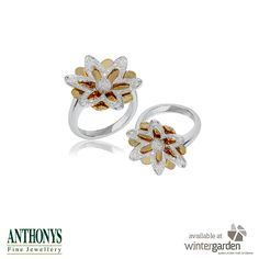 Stunning floral rings from Anthony's Fine Jewellers