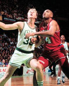Boston Celtics Larry Bird vs Philadelphia 76ers Charles Barkley