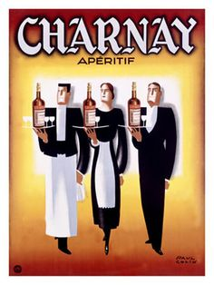 Reclame voor Charnay Apéritif / Advertising Charnay Aperitif.