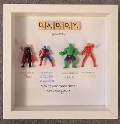 A personal favourite from my Etsy shop https://www.etsy.com/uk/listing/288713231/avengers-superhero-figures-frame-gift