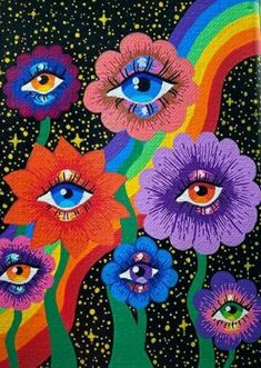 Trippy Drawings, Psychedelic Drawings, Art Drawings, Indie Drawings, Arte Indie, Indie Art, Hippie Painting, Trippy Painting, Photo Wall Collage