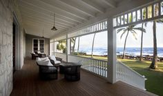 ceiling Outdoor Spaces, Outdoor Living, Outdoor Decor, Outdoor Photos, Houzz, Tropical Beach Houses, Shabby Chic Beach, Hawaii Homes, Living At Home
