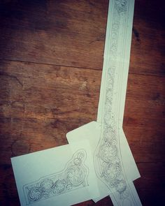 «Floral drawing for the holster and gun belt done. Now for the fun part!»