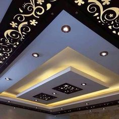 70 Modern False Ceilings with Cove Lighting Design for Living Room