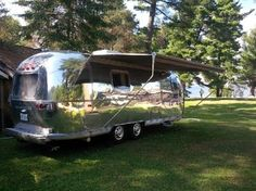 1971 Vintage Air stream on Beautiful Lake Bernard - Campers/RVs for Rent in Sundridge, Ontario, Canada Vintage Airstream, The Great Outdoors, Recreational Vehicles, Ontario, Camper, The Past, Awesome, Beautiful, Caravan