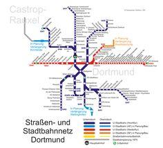 Conocido con el nombre de Stadtbahn, la ciudad de Dortmund cuenta con un sistema de Metro Integrado (tren metropolitano de tránsito rápido - Stadtbahn) complementado por el tranvía, el tren S-Bahn y el subterráneo U-Bahn. En total toda la red suma 83 estaciones y 8 líneas (37 estaciones y 3 líneas subterráneas).