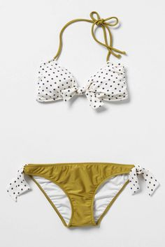 An updated itsy-bitsy yellow polkadot bikini for $136 @Anthropologie