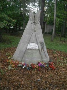 Grave Marker- Chief Quoqua - Wyandott Indian -Michigan Memorial Park Cemetery - Flat Rock, Michigan