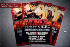 MMA Fight Night flyer template. Get it here:  http://graphicriver.net/item/mma-fight-night-flyer-template/7631189?WT.ac=portfolio&WT.z_author=FlipNGecko