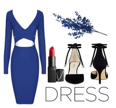 """""""Dress"""" by colorfulrainbow03 on Polyvore featuring Nine West and NARS Cosmetics"""