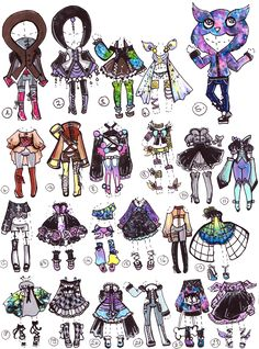 3,5,9,17OPEN- Fantasy/PastelGoth by Guppie-Adopts on deviantART