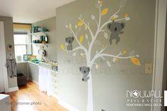 Bébé Stickers muraux animal d'ours de koala décor Arbre