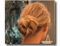 Glitz Bliss: Hair Inspiration & DIY: Easy Chignon Updo