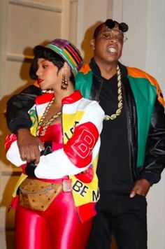 Beyoncé and Jay Z as Salt-N-Pepa and Dwayne Wayne - The Best Celebrity Couples Costumes to Copy this Halloween - Photos Celebrity Couple Costumes, Celebrity Halloween Costumes, Couple Halloween Costumes, Celebrity Couples, Halloween Photos, Halloween 2016, Batman Halloween, Zombie Costumes, Halloween Couples