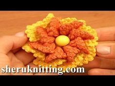 Crochet Two-Layered Flower Free Pattern Tutorial 80 Crochet 3D Flowers