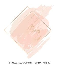 Similar Images, Stock Photos & Vectors of Abstract pink brush background with rectangle geometric frame rose gold color. Logo background for beauty and fashion - 1316150948 Flower Backgrounds, Abstract Backgrounds, Wallpaper Backgrounds, Iphone Wallpaper, White Backgrounds, Brush Background, Glitter Background, Logo Background, Web Design
