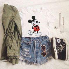 Disney outfits, teenage outfits, disney world outfits, disney inspired outf Disney World Outfits, Cute Disney Outfits, Disneyland Outfits, Disney Inspired Outfits, Disney Style, Cute Outfits, Hipster Outfits, Grunge Outfits, Tumblr Outfits