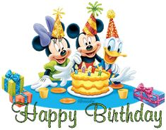 Animated Disney Birthday Quote