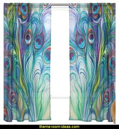 Peacock Feathers Pattern curtains