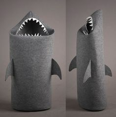 Shark Laundry Basket - pricey, but would be a great way to encourage kids to keep their rooms tidy by throwing their dirty clothes into the shark.