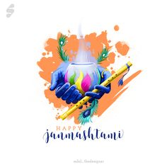 Happy Janmashtami, Krishna Janmashtami, Navratri Wishes, Radhe Krishna, Lord Krishna, Caricature, Pure Products, Day, Behance