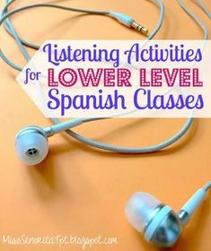 I like to include listening activities in my Spanish classes as much as I can. I… I like to include listening activities in my Spanish classes as much as I can. It can be seriously challenging to find good listening act… Spanish Lessons For Kids, Spanish Basics, Spanish Lesson Plans, Spanish 1, French Lessons, Spanish Games, Spanish Alphabet, Spanish Numbers, Spanish Online