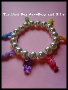Hello Kitty pearl bracelet.  Part of the Hello Kitty jewellery box that was made for  special little girls birthday xx