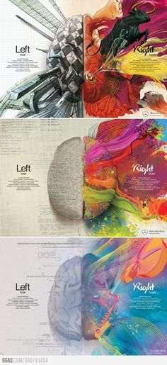 Left Brain - Right Brain.... Now I know why every test I've taken indicates I'm right brain.