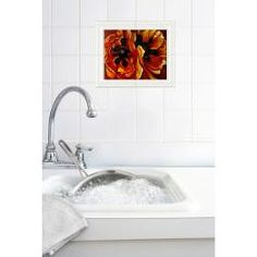 @Overstock - Own a beautiful hand-carved and hand-glazed ceramic tile replicated after Georgia O'Keeffe's Oriental Poppies. Each ceramic tile has been a traditional means of decorating back splashes in kitchens and bathroom walls for years.http://www.overstock.com/Home-Garden/Georgia-OKeeffe-Oriental-Poppies-Wall-Tile/6511332/product.html?CID=214117 $36.89