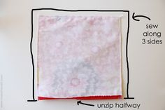 "Zippered Pillow Cover - I'm a sewing beginner and this site is full of ""For dummies"" tutorials with great pictures."