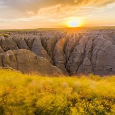 Double Tap if you wish you were here! Theres more to Badlands #NationalPark (@badlandsnps) than gorgeous scenery. You can see bison and bighorn sheep roaming the grasslands near colorful jagged rock formations. Rich fossil beds reveal the remains of ancient mammals like saber-toothed cats and rhinos. 244000 acres of #SouthDakota #badlands will make this one of your favorite national parks. Photo by Shawn Stackhouse (http://ift.tt/18oFfjl). #usinterior #findyourpark
