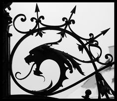 Dragon head ironwork - see, this is why I need a fence - so I can have cool stuff like this on the gates.