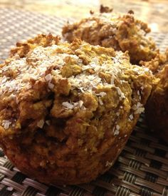 Healthy Pumpkin Banana Muffins! A perfect well-balanced snack for fall.