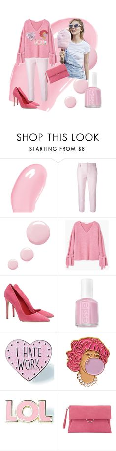"""Pinky pie"" by egleezy ❤ liked on Polyvore featuring Christian Dior, Dsquared2, Topshop, MANGO, Dee Keller, Essie, Skinnydip, Valley Cruise Press and Mint Velvet"