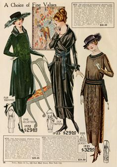 Ladies Dresses for Winter #1919 #1910s
