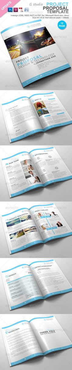 Clean Proposal \ Brief Template Creative, Briefs and Brochures - business proposal template microsoft word