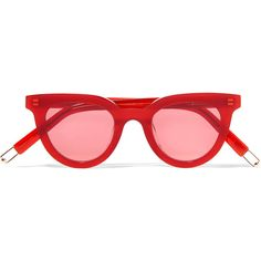 Gentle Monster + Tilda Swinton Eye Eye D-frame acetate sunglasses (15.835 RUB) ❤ liked on Polyvore featuring accessories, eyewear, sunglasses, glasses, red, red glasses, gentle monster sunglasses, red sunglasses, uv protection glasses and loop glasses