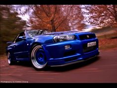 Nissan Skyline GTR R34 Learning how to drift is also on the bucket list