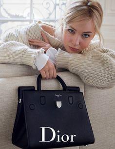 Sac à main Dior en cuir matelassé noir