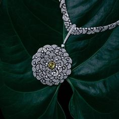 """AlmaKarina Jewelry Photography on Instagram: """"Lush and Green Haute Living magazine. Chanel Fine Jewelry necklace in white gold, white and yellow diamonds."""""""