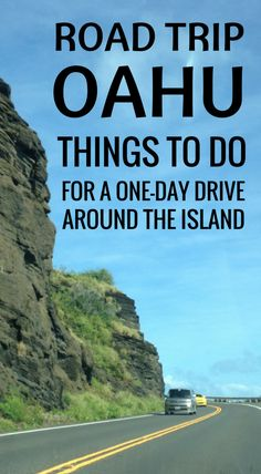 Road trip Oahu, one day drive around island. Hawaii vacation tips for things to do on Oahu, free, cheap, affordable. Scenic drive with DIY circle island driving tour. Stop for easy hikes, snorkeling beaches, food, restaurants, shopping activities. From Waikiki, Honolulu to North Shore, more on day trip itinerary. Start checklist of USA bucket list destinations for world trip adventures on a budget. Save money with travel tips, ideas! Good for destination wedding, honeymoon. #oahu #hawaii